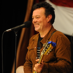 Caption: James Hunter makes his debut on the WoodSongs Stage.
