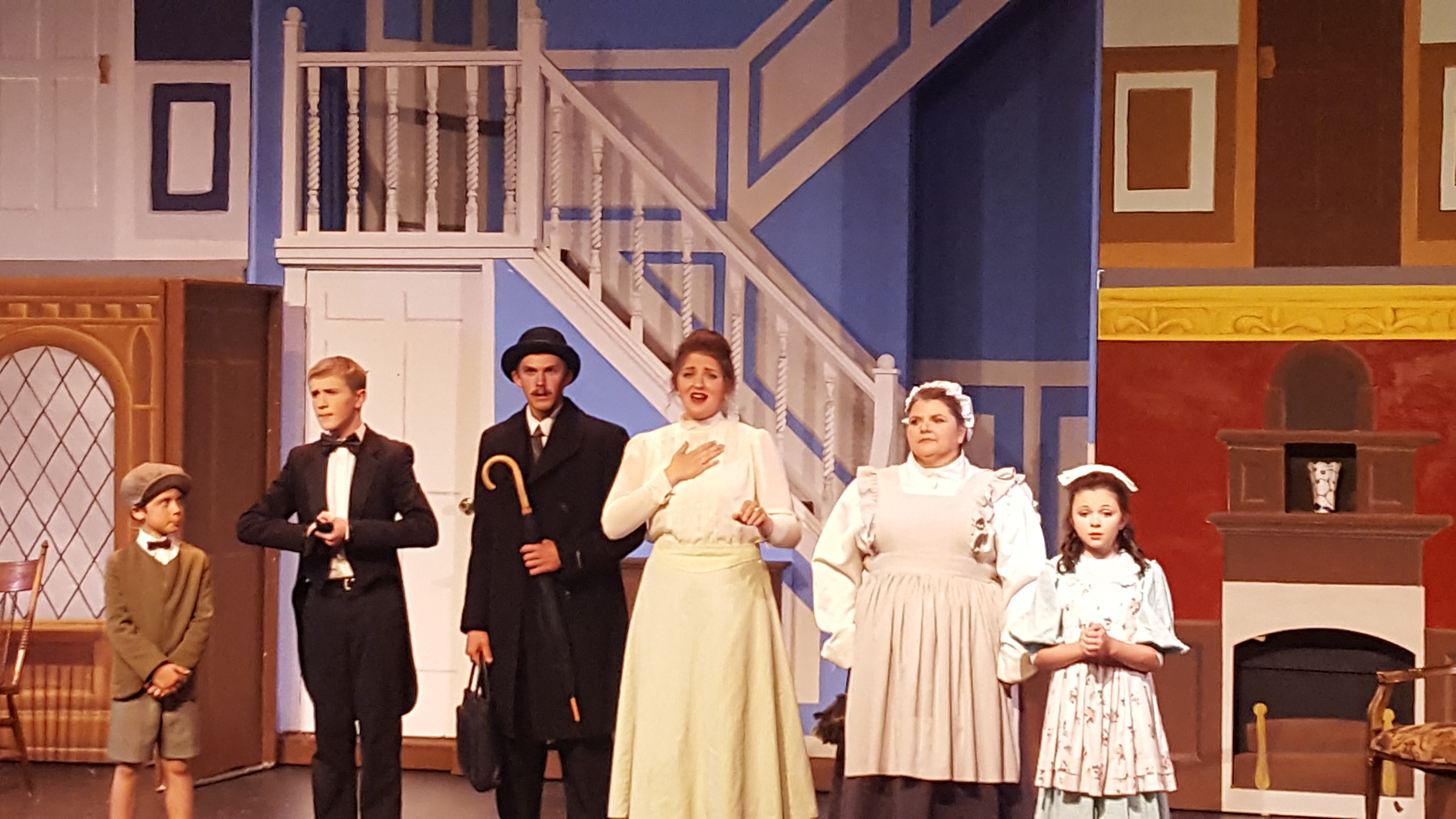 "Caption: ""Mary Poppins"" as performed by the Warroad Summer Theater of Warroad, MN."