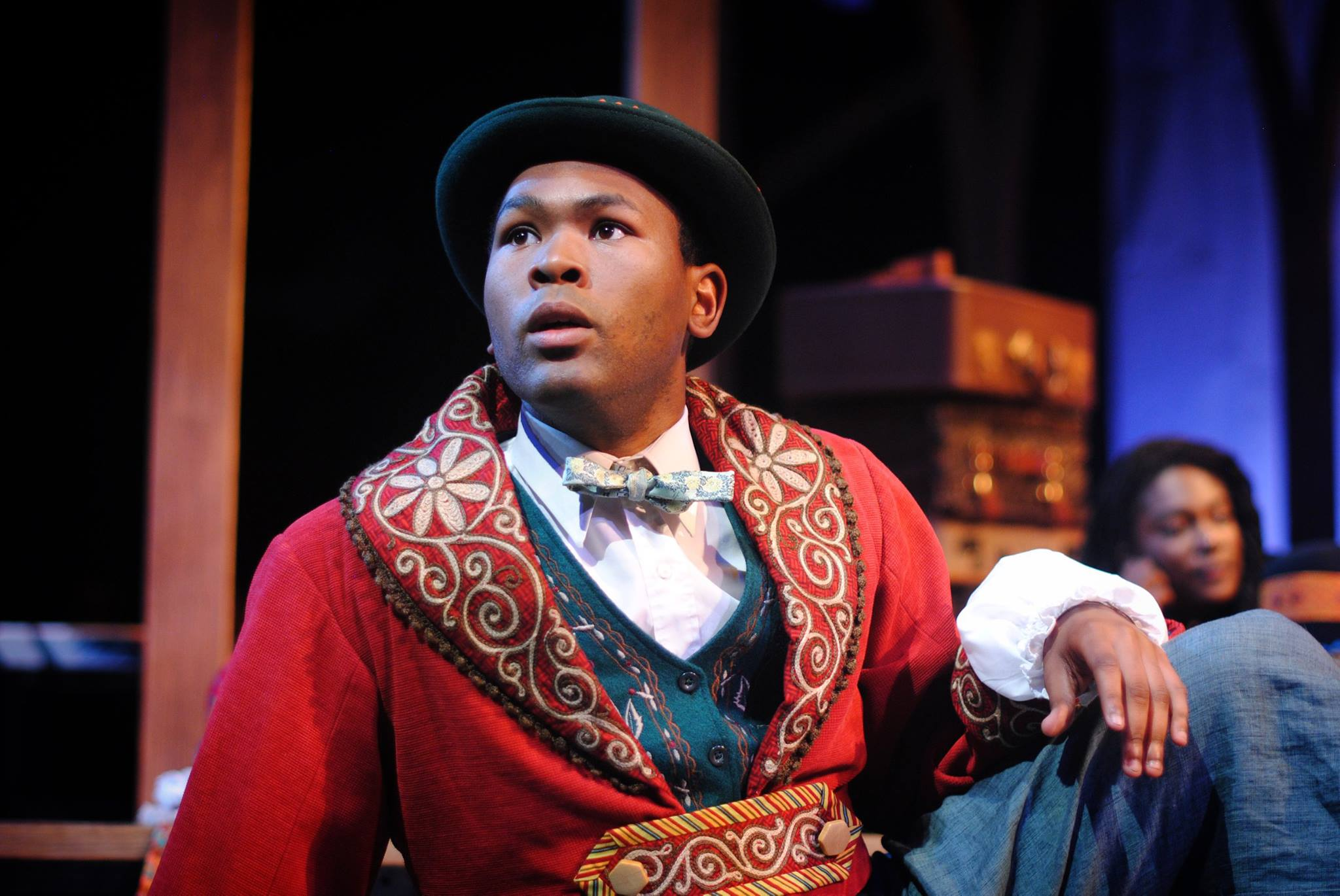 Caption: Silvius, in love with Phoebe. Played by JuCoby Johnson., Credit: Benjamin Boucvalt