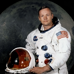 Caption: Neil Armstrong's official NASA portrait, Credit: NASA