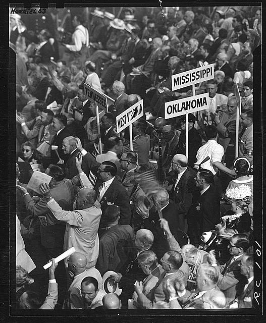 Caption: Attendees at the 1952 Republican National Convention, Chicago, IL , Credit: Library of Congress