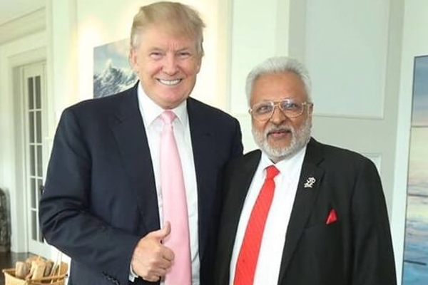 Caption: Donald Trump & Shalabh Kumar