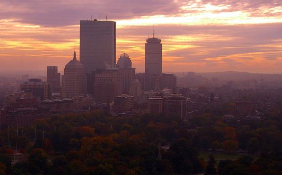 Caption: A foggy day in Boston, Credit: WalknBoston/Flickr