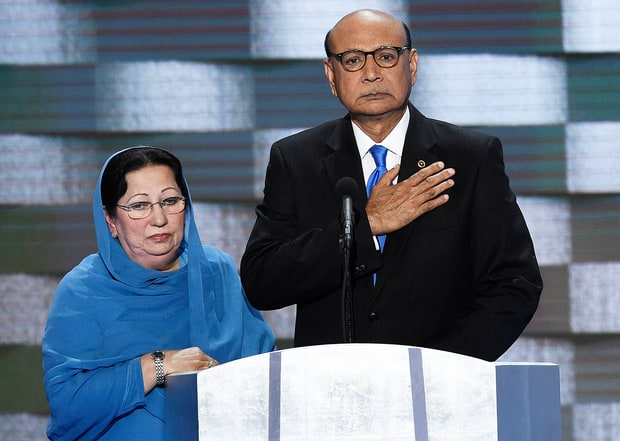 Caption: Khizr Khan at the DNC Convention