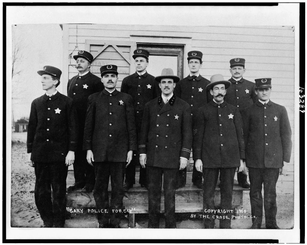 Caption: Gary police department, Credit: Library of Congress