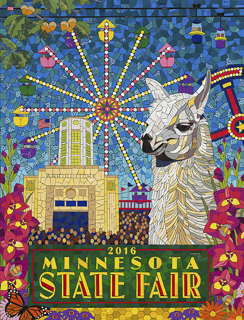 Caption: 2016 Minnesota State Fair Commemorative Art.