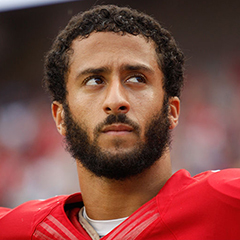 Caption: SF 49ers Colin Kaepernick