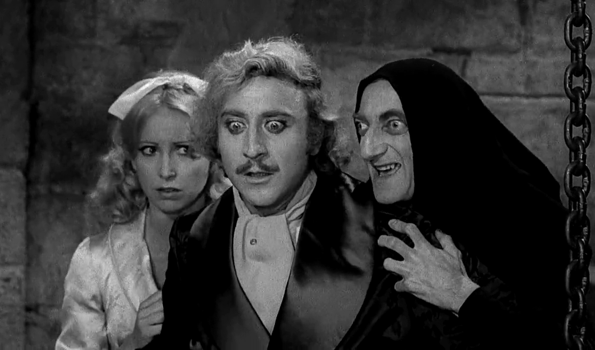 Caption: Teri Garr, Gene Wilder and Marty Feldman in 'Young Frankenstein'