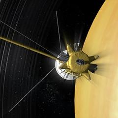 Caption: Saturn and Cassini, Credit: NASA/JPL-Caltech