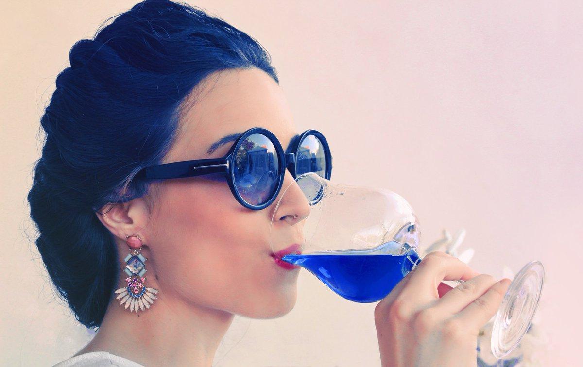 Caption: Blue Wine