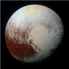 Caption: New Horizons enhanced color image of Pluto, Credit: NASA/JHUAPL