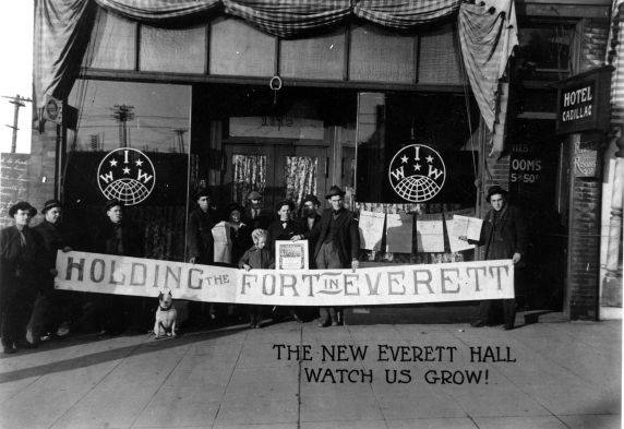 Caption: Everett Massacre,  Holding the Fort-Sung by IWW