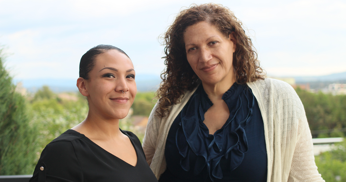 Caption: Jasmine Pacheco (left) and Carmen Pacheco-Jones (right)