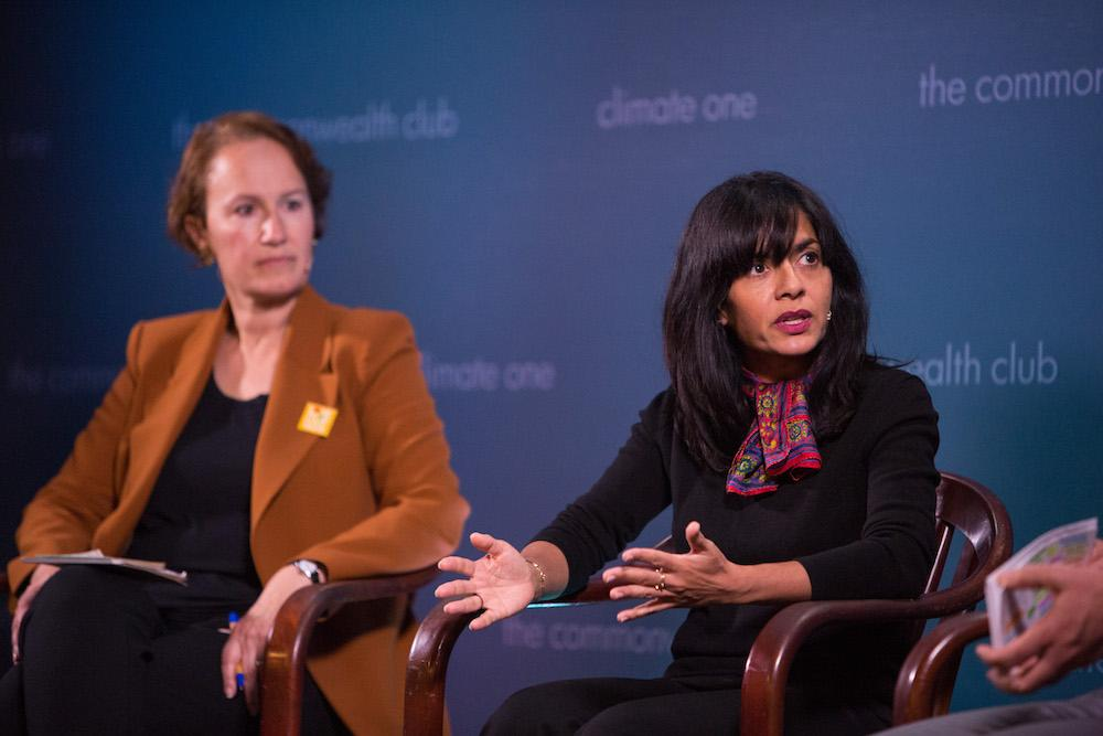 Caption: Helene York, Simran Sethi