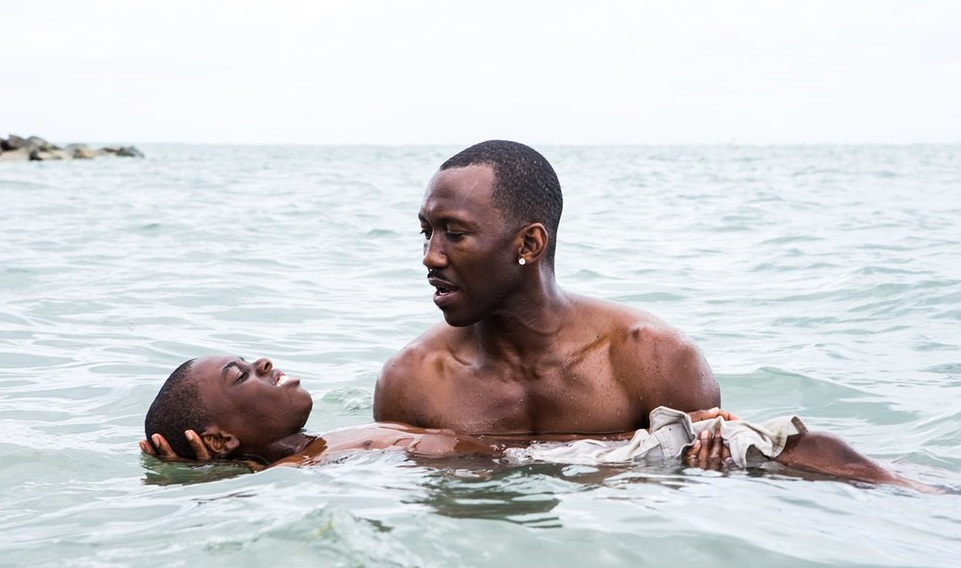 Caption: Jaden and Mahershala Ali in 'Moonlight'