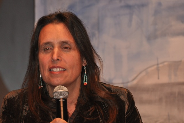 Caption: Winona LaDuke (Ojibwe) Executive Director of Honor the Earth