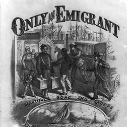Caption: Only an emigrant. 1879, Credit: Source: Library of Congress.