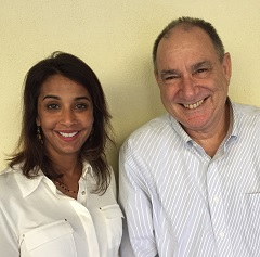 Caption: Dr. Kalpana DePasquale and Warren Miller