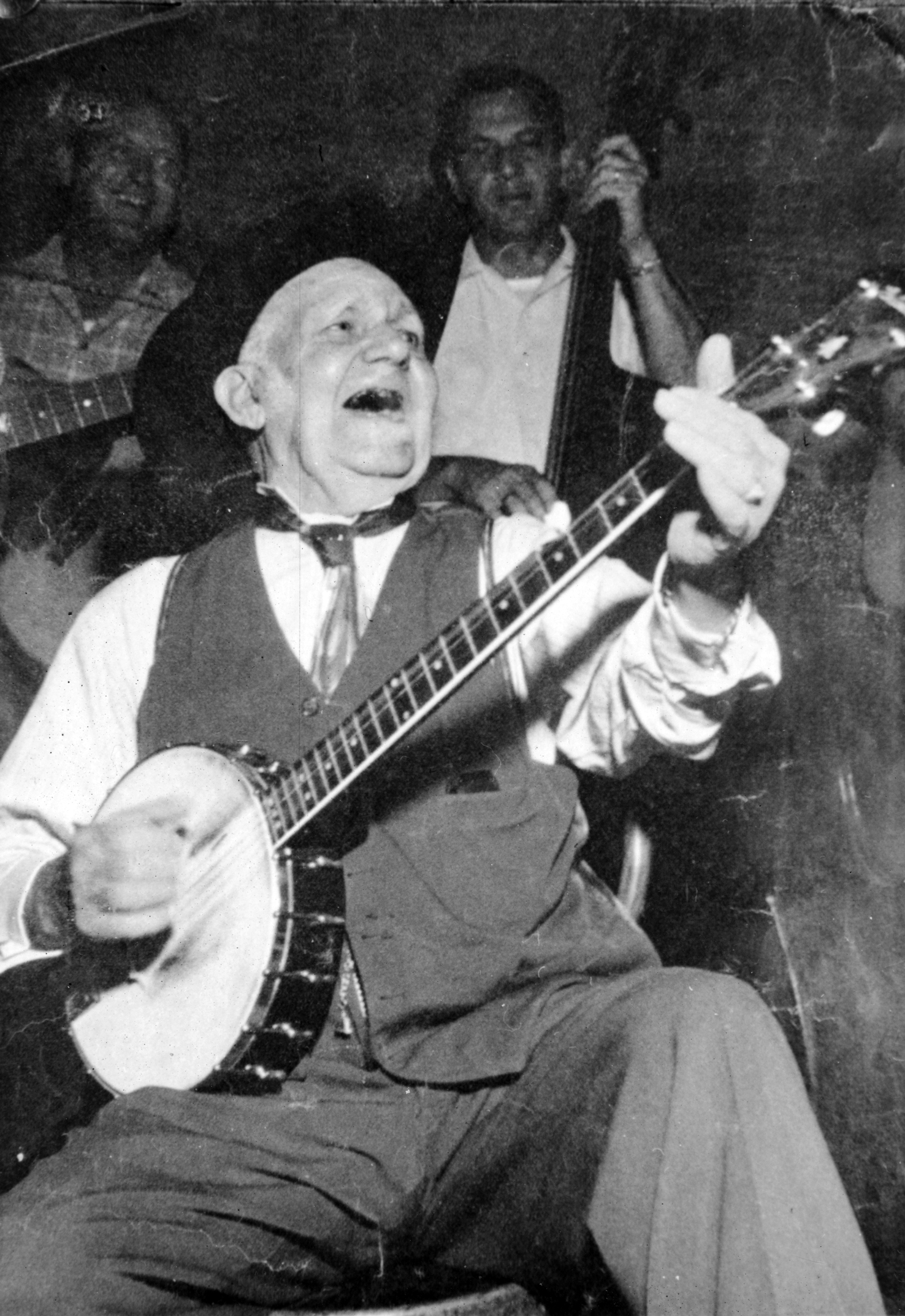 Caption: Uncle Dave Macon was an uproarious entertainer in the old minstrel show, Vaudeville and medicine show styles, and an early Grand Ole Opry star.  , Credit: Public Domain