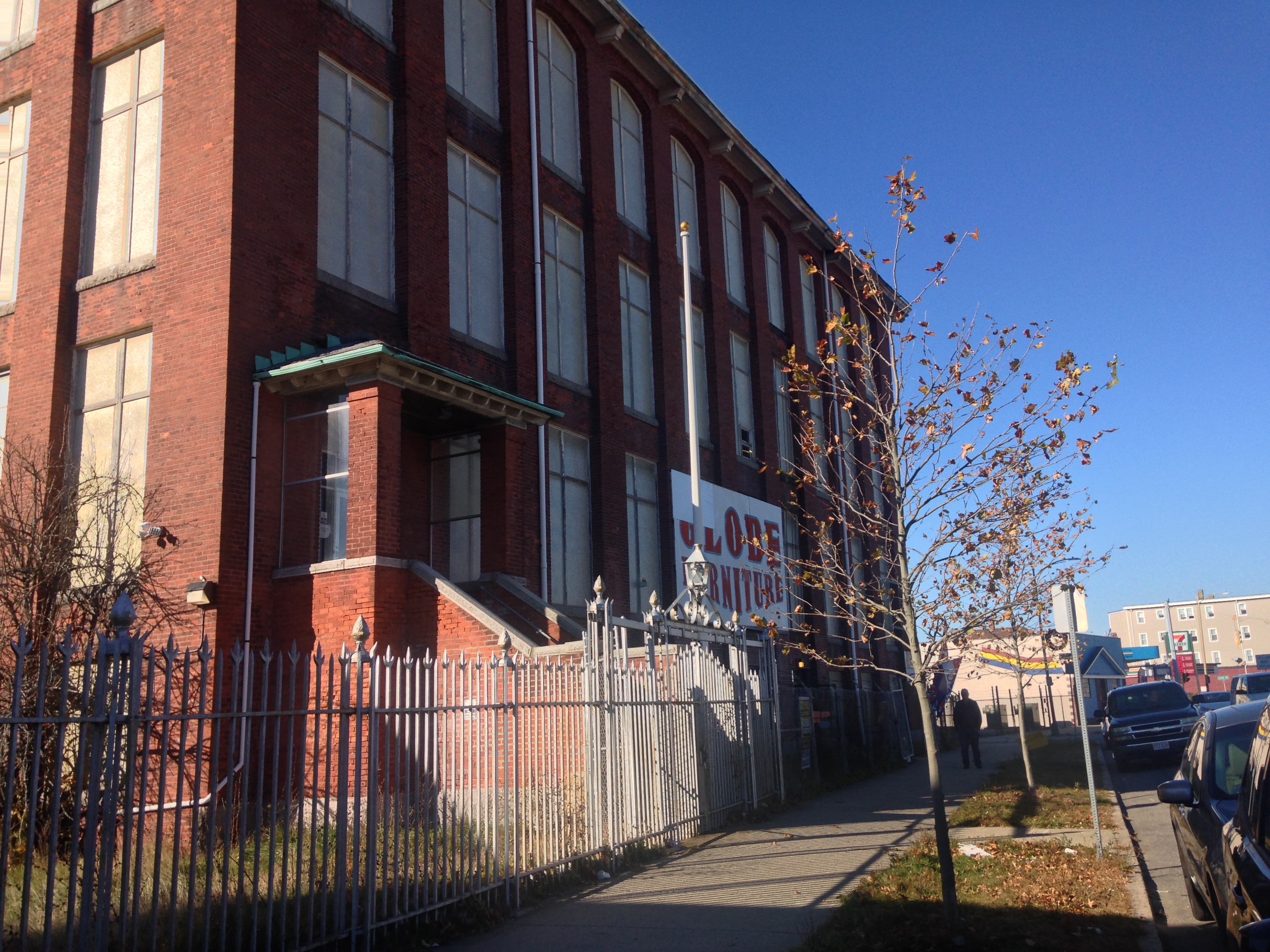 Caption: Building of the former Michael Bianco, Inc. Factory, Credit: Photo by Virginia Lora