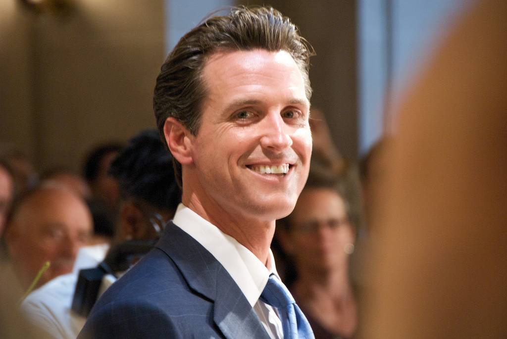 Caption: Gavin Newsom