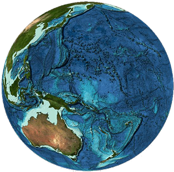 Caption: GEBCO (General Bathymetric Chart of the Oceans) A 3-d visualization of bathymetry data taken from the GEBCO 2014 Grid, Credit: GEBCO | www.gebco.net