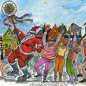 Caption: Santa's Second Line, Credit: Chuck Siler