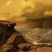 "Caption: Space artist Marilynn Flynn's ""Titan's Southern Summer"", Credit: tharsisartworks.com"