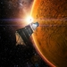 Caption: Artist's concept of MAVEN orbiting Mars, Credit: Lockheed Martin