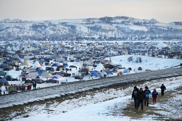 Caption: Oceti Sakowin Camp, Cannonball, ND, Credit: npr.org
