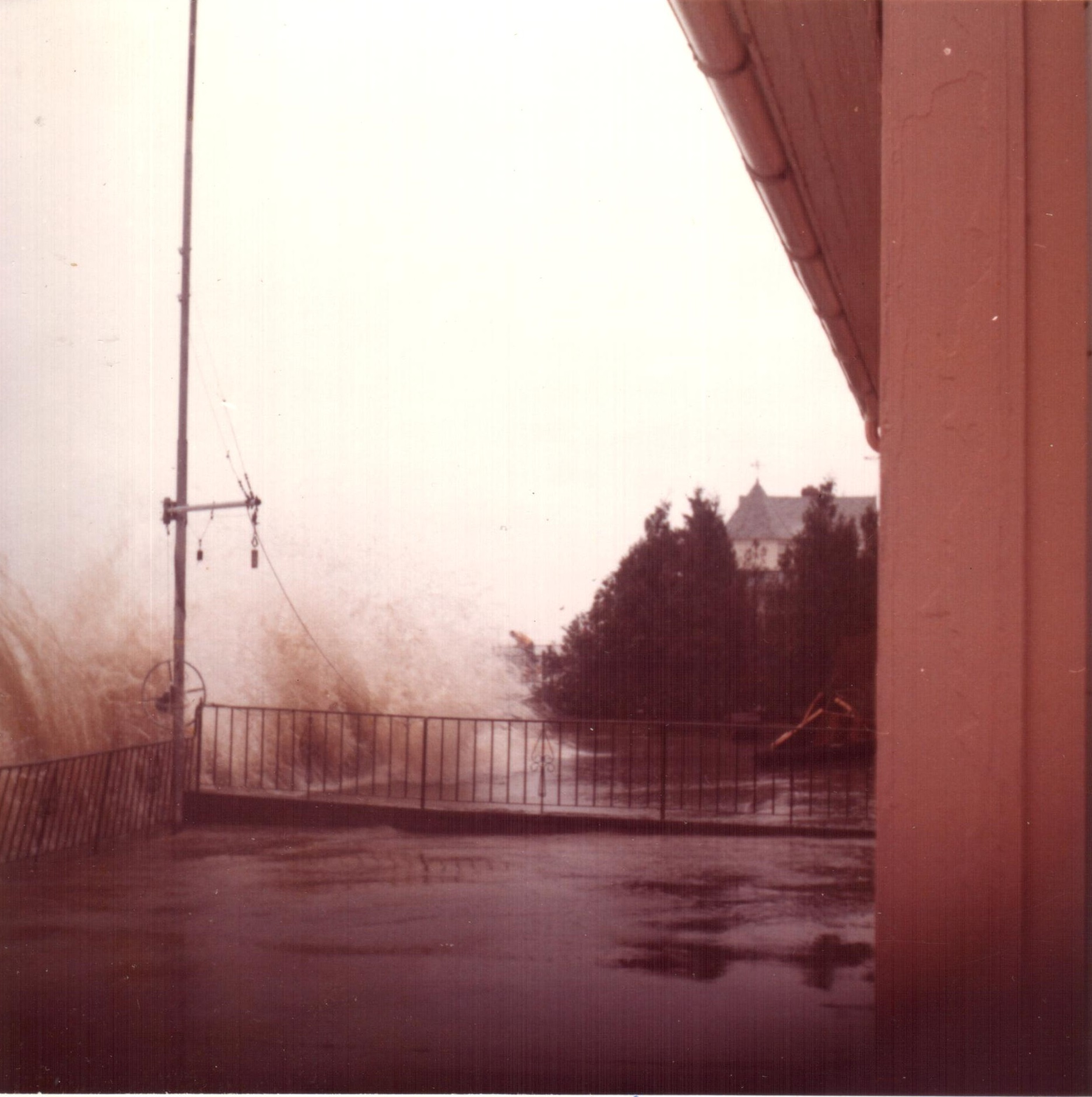 Caption: In 1973 waves crashed over Zieres' family's breakwall and flooded their home., Credit: Provided