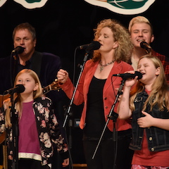 Caption: The incredible vocals of the Martin Family Circus.