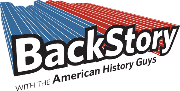 Caption: BackStory with the American History Guys logo