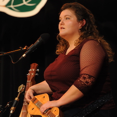 Caption: National Mountain Dulcimer Champion Sarah Morgan.