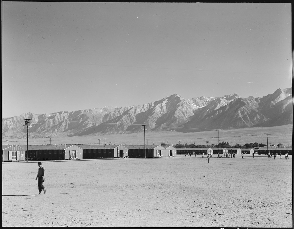 Caption: Japanese Internment Camp, Credit: Densho Archives