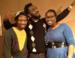 Caption: Blackout Improv's Kory LaQuess Pullam, John Gebretatose and Joy Dolo., Credit: Nancy Rosenbaum