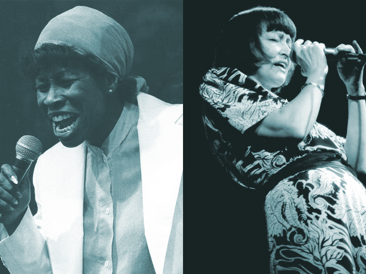 Caption: Betty Carter and Sheila Jordan