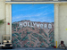 Caption: A painting of the Hollyweed sign on an LA sound lot., Credit: John X/Flickr