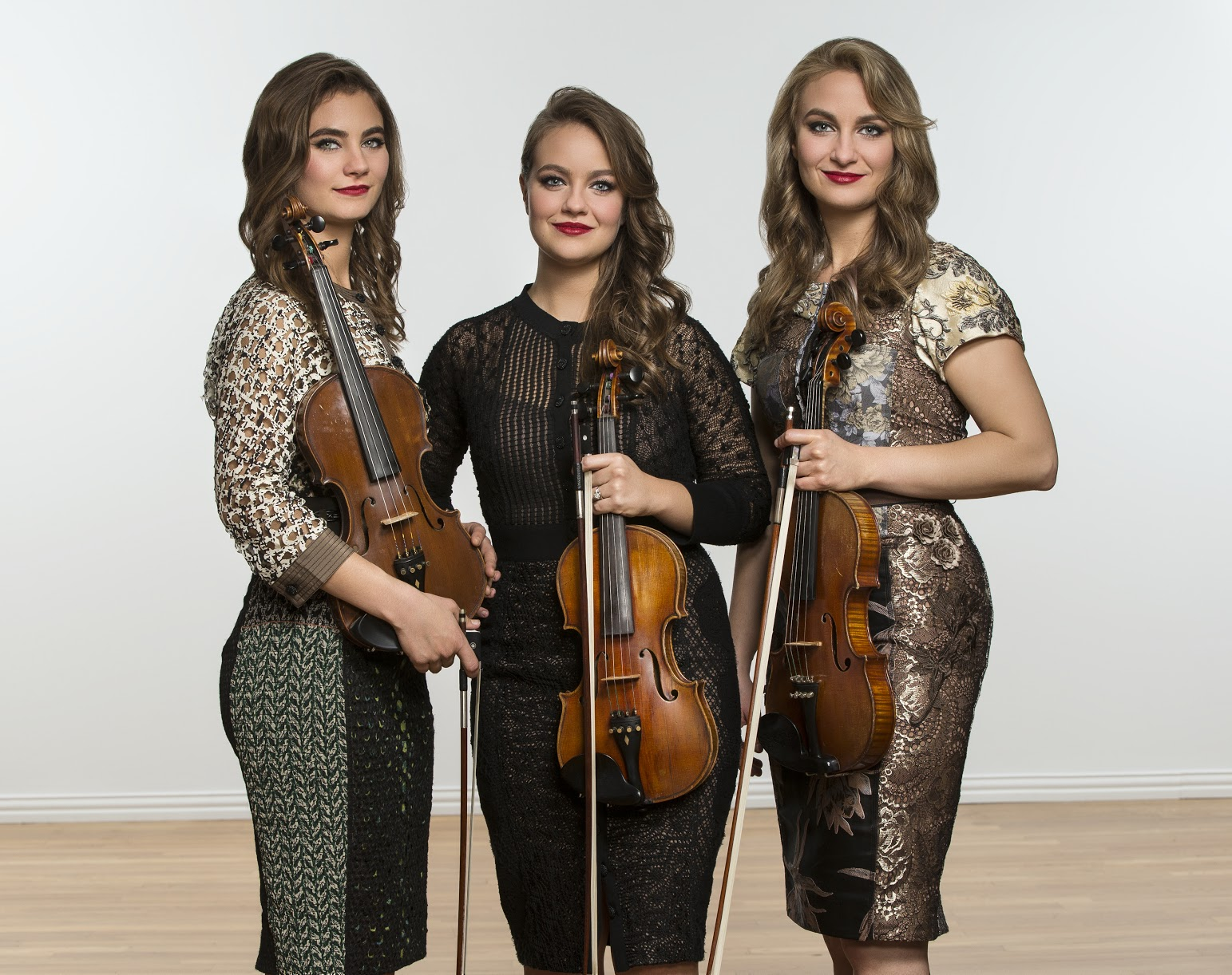Caption: The Quebe Sisters of Texas present swing fiddle tunes and triple-harmony singing at the Blue Ridge Music Center this season.  , Credit: Stewart Cohen