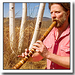 Caption: Phil Nyokai James playing the shakuhachi