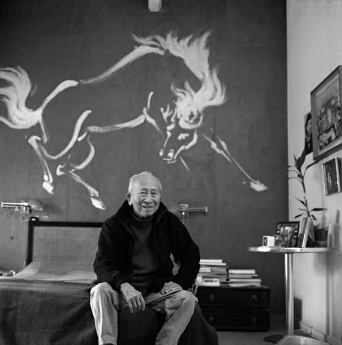 Caption: Tyrus Wong at his home in CA in 2004, Credit: Courtesy Walt Disney Family Museum