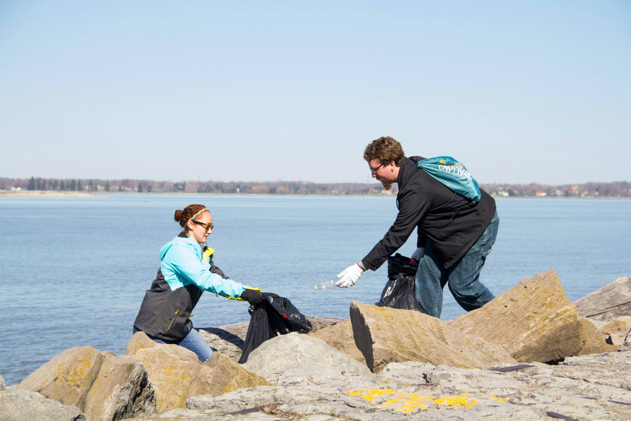Caption: Photo Credit: Buffalo Niagara Riverkeeper / Spring Shoreline Sweep 2016, Credit: Photo Credit: Buffalo Niagara Riverkeeper / Spring Shoreline Sweep 2016