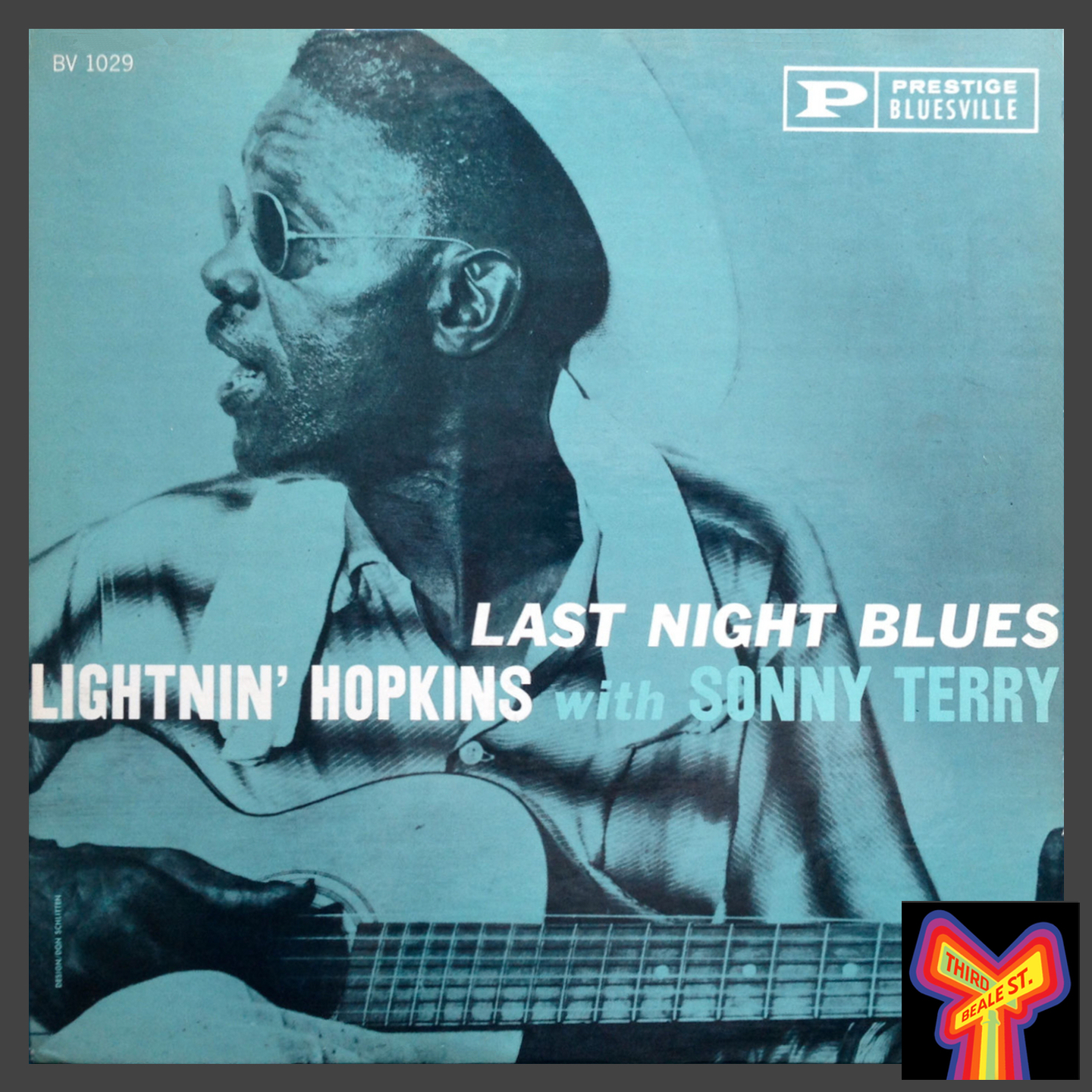 Caption: Just one of many LPs by Lightnin' Hopkins, whose extensive recordings made up a large portion of the Bluesville catalog.