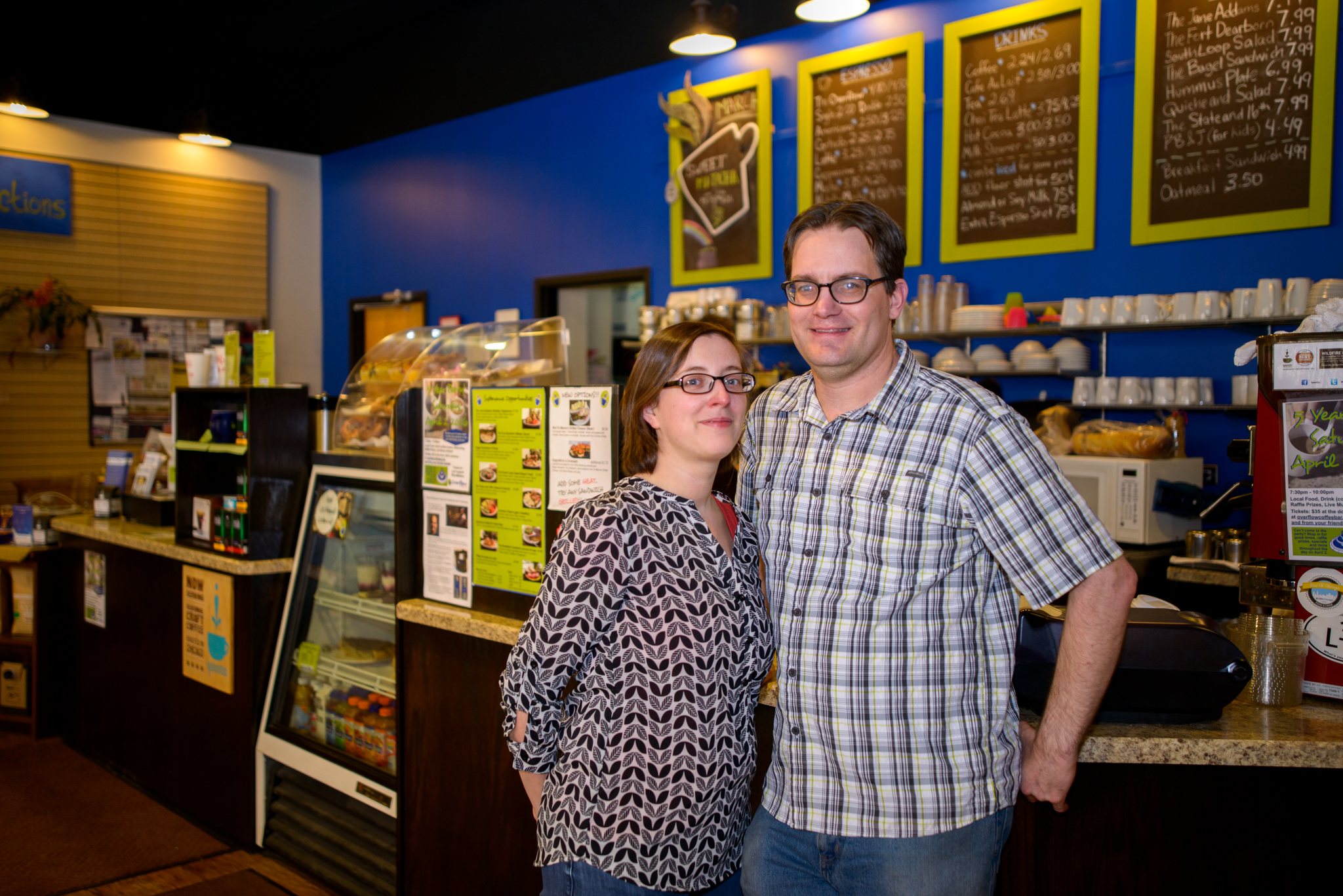 Caption: Overflow Coffee Bar - Brandon & Amanda Neely - Chicago