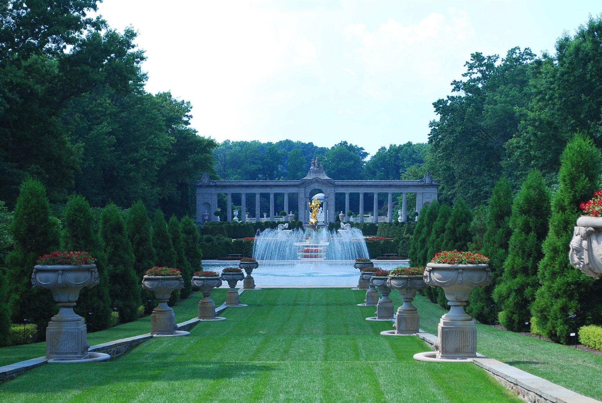 Caption: Garden at Newmours Estate., Credit: Photo by Tonya Fitzpatrick