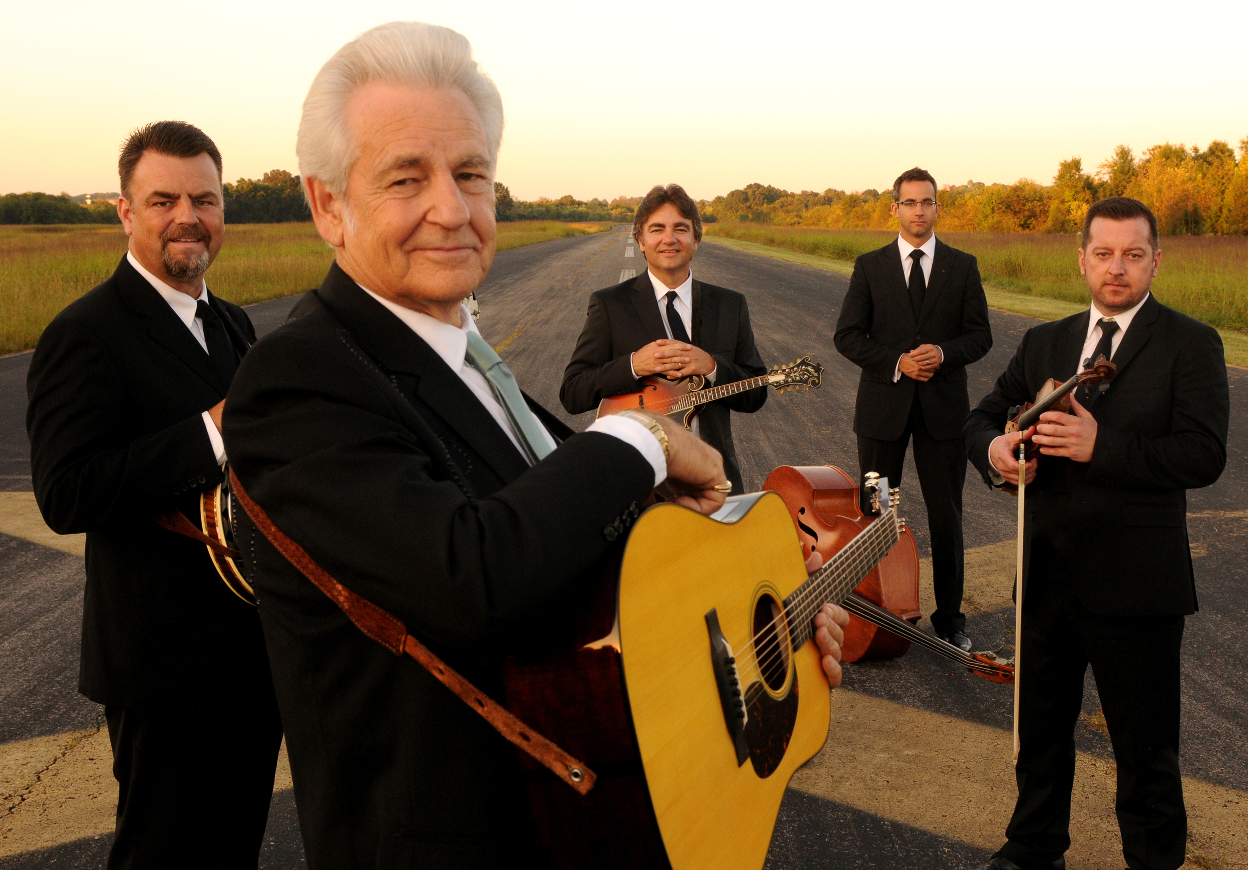 Caption: Del McCoury reaches back to the era of singles.  He and his band are on a streak of releasing single songs, rather than waiting to complete entire albums.   We hear the latest on this week's Across the Blue Ridge.  , Credit: Del McCoury Band
