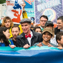 Caption: Bill Nye at the March for Science in Wasington, Credit: Navid Baraty/Planetary Society