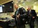 Caption: Representative Tom Marino (R-PA) walks into a meeting room wearing a leather jacket and backpack., Credit: US Embassy Kabul Afghanistan/Flickr