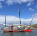 Caption: The Sun Seeker is a Chinese Junk, a type of ancient sailboat. Since 1987, the boat has been moored at Quissett Harbor in Falmouth. , Credit: Olivia Weitz