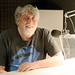 Caption: Gilbert Baker in our studio, 3/1/17. He died unexpectedly just a month later.